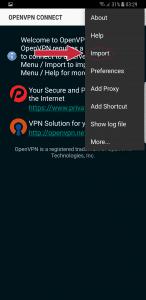 Importer fichiers de configuration openvpn Android