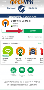 Ouvrir OpenVPN sur Android